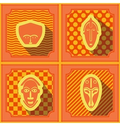 Seamless background with African ritual masks vector image
