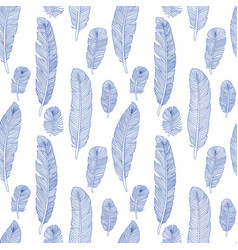 Seamless vintage pattern with hand drawn vector