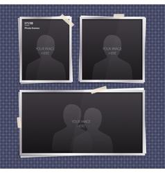 Set of empty photo frames vector