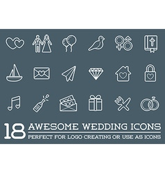 Set of wedding love elements merry me can be used vector
