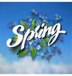 Spring lettering vector image