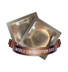 World contraception day emblem vector