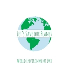 World Environment Day festive Concept Template vector image vector image