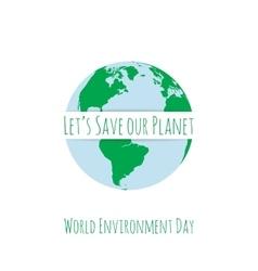World environment day festive concept template vector