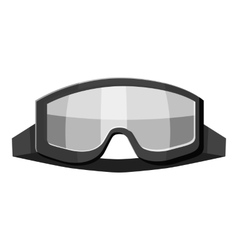 Military goggles icon gray monochrome style vector