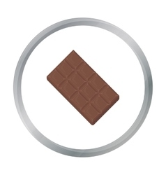 Chocolate icon in cartoon style for web vector
