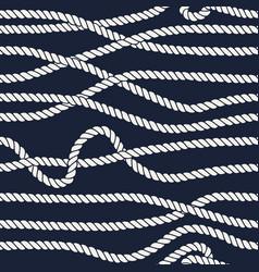 Marine rope line seamless pattern vector
