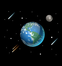 High quality planet galaxy astronomy and earth vector