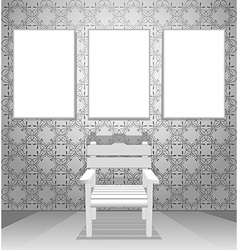 Interior chairs vector