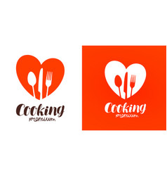 Cooking cuisine cookery logo restaurant menu vector