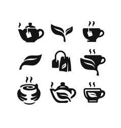 Black tea icon vector