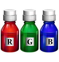 Three bottles of ink vector