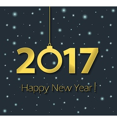 2017 happy new year poster vector