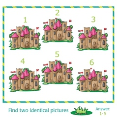 Find two identical pictures vector