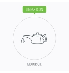 Motor oil icon fuel can with drop sign vector