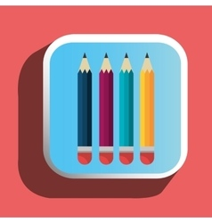 Colorful pencils icon vector
