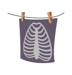X-ray of a human rib cage cartoon icon vector