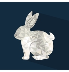 Rabbit low poly design vector