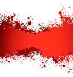 blood banner vector image