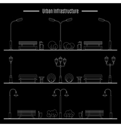 City and outdoor element vector