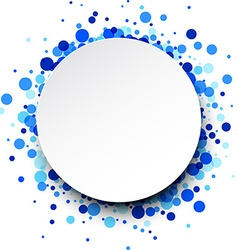 Round background with drops vector
