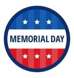 Memorial day color badge vector