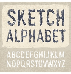 Hatching alphabet vector