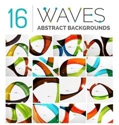 Set of smooth elegant identity waves vector