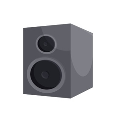 Black sound speaker icon cartoon style vector