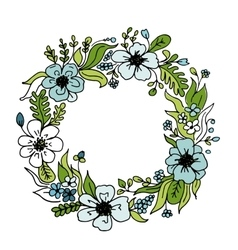 Floral wheath circle frame for your design vector