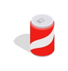 Carbonated drink icon isometric 3d style vector
