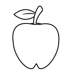 Apple food healthy image outline vector