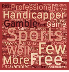 Are You Handicapped Without a Sports Handicapper vector image