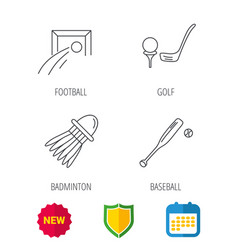 Baseball football and golf icons vector