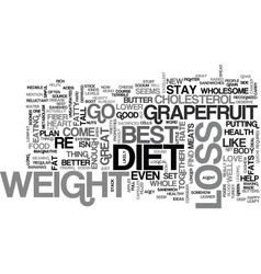 best weight loss diet text word cloud concept vector image vector image