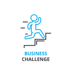 business challenge concept outline icon linear vector image