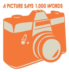 Camera picture words vector