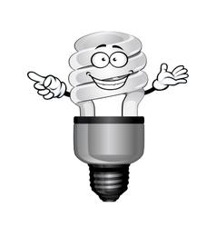 Cartoon saving light bulb character vector image