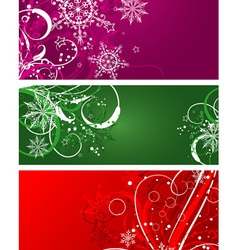 christmas background with decoration vector image vector image