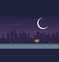 Collection background game with city scenery vector