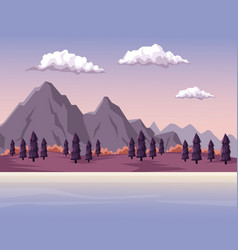 colorful background with dawn mountain valley vector image vector image