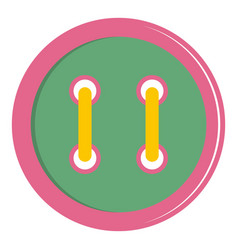 Colorful clothing button icon isolated vector