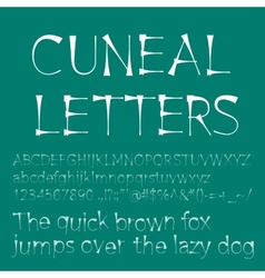 Cuneal letters and numbers vector image vector image