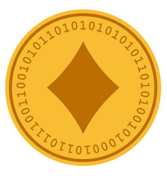 Diamonds suit digital coin vector