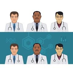 Doctors Avatars vector image vector image