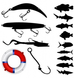 fisher equipments vector image