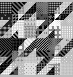 geometrical patchwork pattern vector image vector image