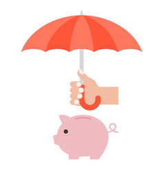 hand holding umbrella vector image vector image