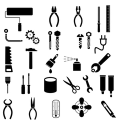 hand tool icons vector image vector image