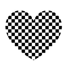 Heart with square the black color icon vector